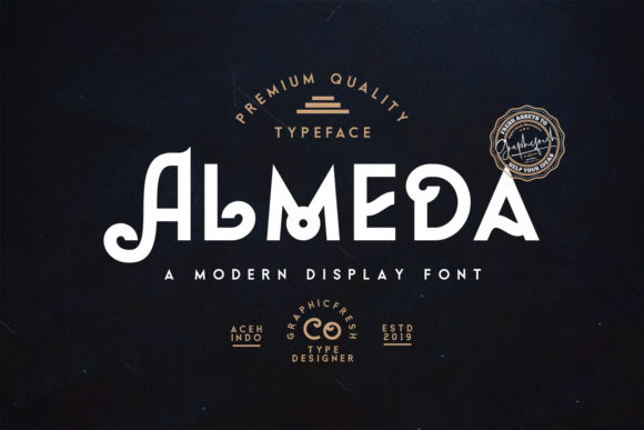 Print on Demand: Almeda Display Font By Sameeh Media