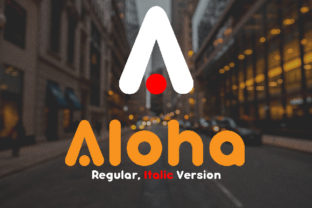 Aloha Font By da_only_aan