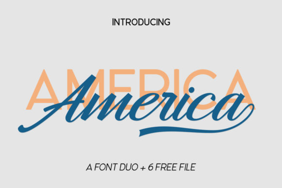 Download Free Hangberd America Duo Font By Zane Studio Creative Fabrica for Cricut Explore, Silhouette and other cutting machines.