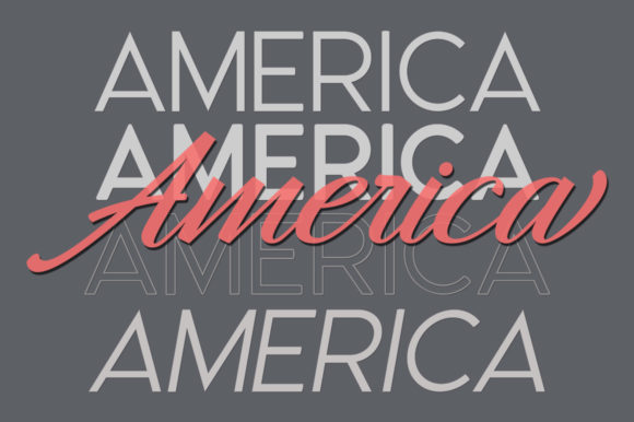 Print on Demand: Hangberd America Duo Script & Handwritten Font By Zane Studio - Image 4