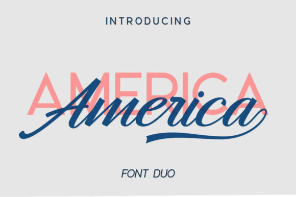 Print on Demand: Hangberd America Duo Script & Handwritten Font By Zane Studio