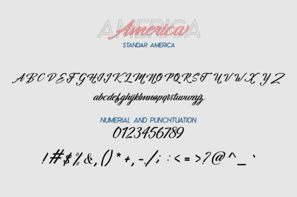 Print on Demand: Hangberd America Duo Script & Handwritten Font By Zane Studio - Image 7