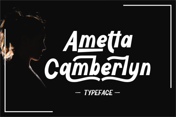 Print on Demand: Ametta Camberlyn Display Font By Rifki (7ntypes)