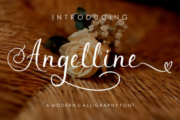 Print on Demand: Angelline Script & Handwritten Font By MJB Letters