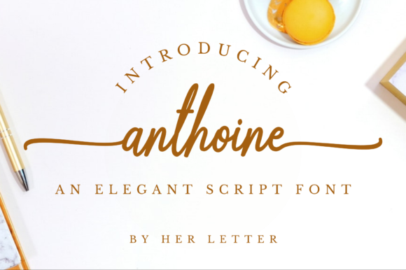 Print on Demand: Anthoine Script & Handwritten Font By Her Letter