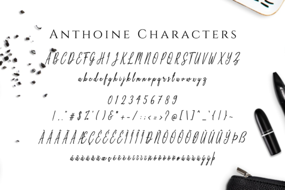 Print on Demand: Anthoine Script & Handwritten Font By Her Letter - Image 8