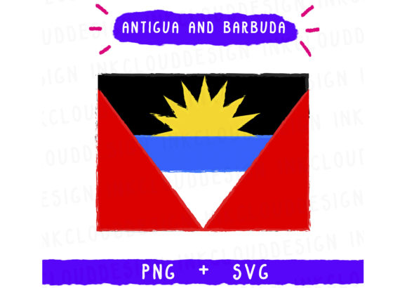 Print on Demand: Antigua and Barbuda Graphic Icons By Inkclouddesign