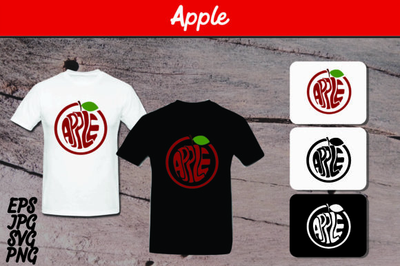 Download Free Apple T Shirt Design Graphic By Arief Sapta Adjie Creative for Cricut Explore, Silhouette and other cutting machines.