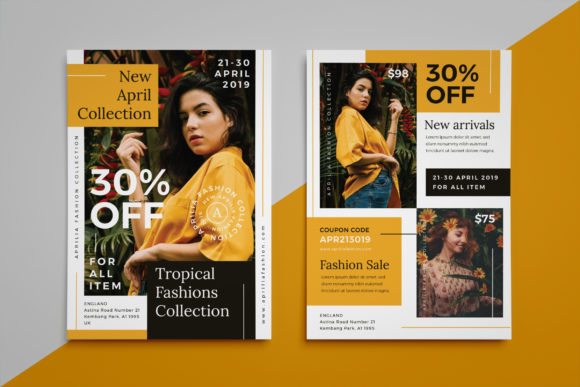 Download Free Aprilia Fashion Flyer Graphic By Irfanfirdaus19 Creative Fabrica for Cricut Explore, Silhouette and other cutting machines.