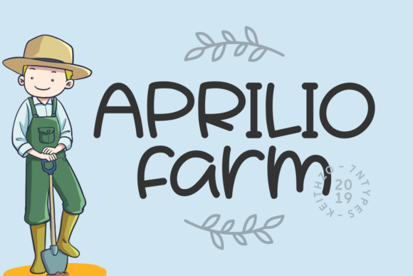 Print on Demand: Aprilio Farm Script & Handwritten Font By Keithzo (7NTypes)