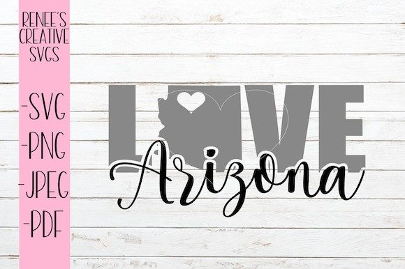 Download Free Arizona Love Svg Graphic By Reneescreativesvgs Creative Fabrica for Cricut Explore, Silhouette and other cutting machines.