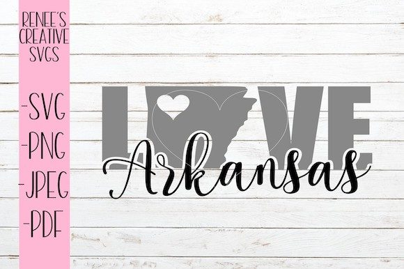 Download Free Arkansas Love Svg Graphic By Reneescreativesvgs Creative Fabrica for Cricut Explore, Silhouette and other cutting machines.