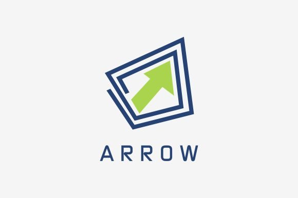 Download Free Arrow Logo Template Graphic By Zaenal Abidin4133 Creative Fabrica for Cricut Explore, Silhouette and other cutting machines.