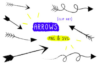 Arrows Clip Art Graphic By Inkclouddesign