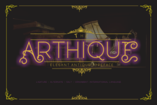 Download Free Arthique Font By Victoriant99 Creative Fabrica for Cricut Explore, Silhouette and other cutting machines.