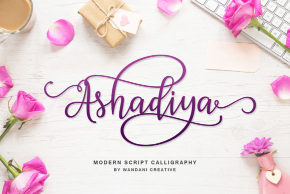Print on Demand: Ashadiya Script & Handwritten Font By Wandani Creative