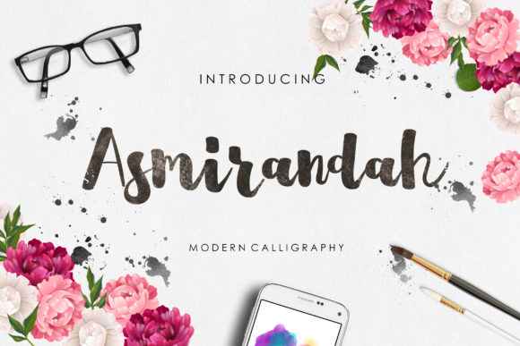 Print on Demand: Asmirandah Script & Handwritten Font By lyanatha