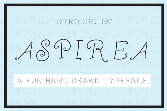 Print on Demand: Aspira Decorative Font By carrtoonz