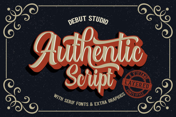 Print on Demand: Authentic Duo Script & Handwritten Font By Debut Studio