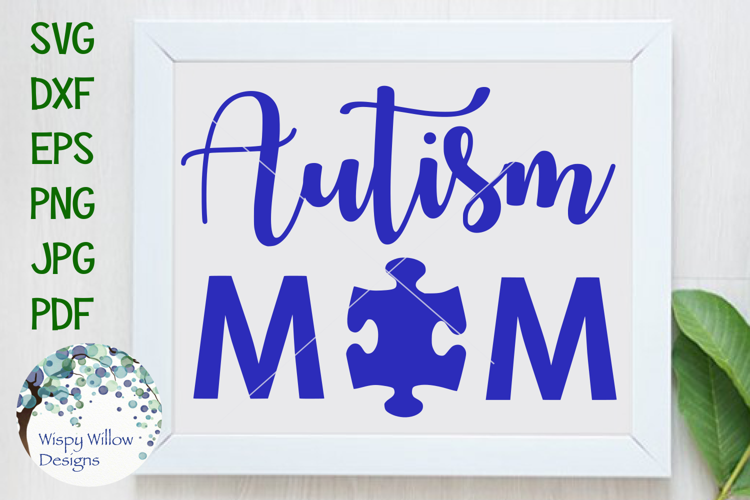 Download Free Autism Mom Svg Graphic By Wispywillowdesigns Creative Fabrica for Cricut Explore, Silhouette and other cutting machines.