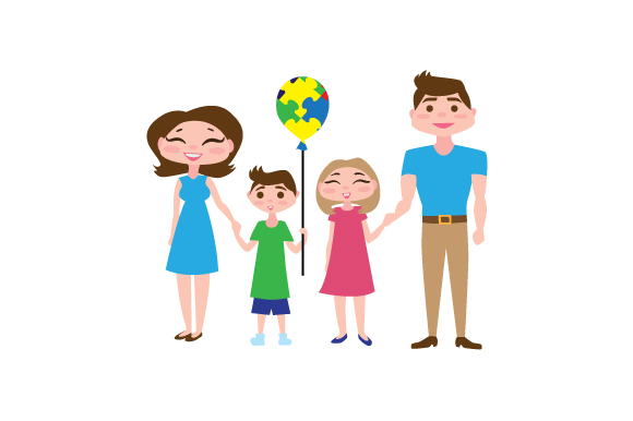 Download Free Autistic Family Member With Puzzle Baloon Svg Cut File By for Cricut Explore, Silhouette and other cutting machines.