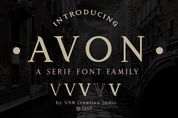 Print on Demand: Avon Serif Font By VNM Creative Studio