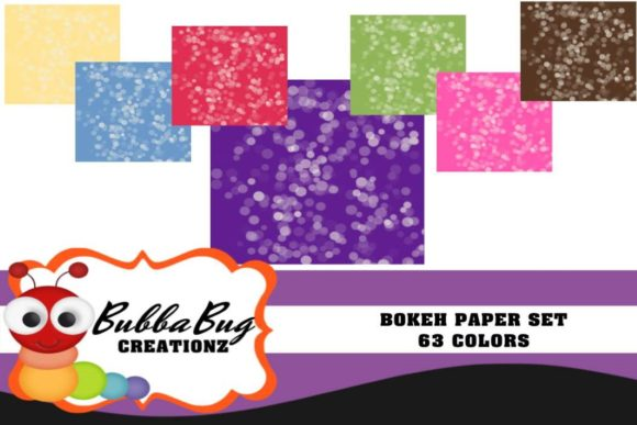 Bokeh Paper Set Graphic Patterns By BUBBABUG