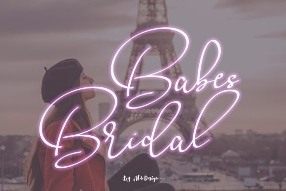 Print on Demand: Babes & Bridal Script & Handwritten Font By aldedesign