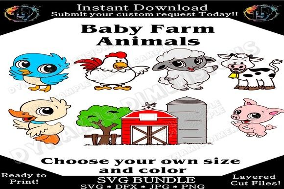 Print on Demand: Baby Animal SVG Graphic Crafts By dynamicdimensions