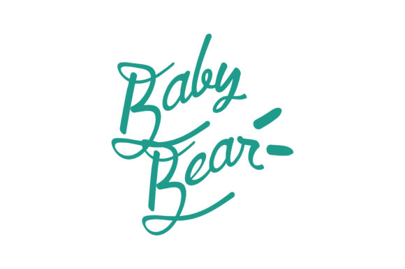 Print on Demand: Baby Bear Quote SVG Cut Graphic Crafts By TheLucky