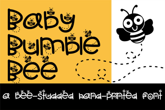 Print on Demand: Baby Bumble Bee Script & Handwritten Font By Illustration Ink
