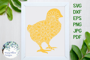Download Free Baby Chick Easter Mandala Zentangle Svg Graphic By Wispywillowdesigns Creative Fabrica for Cricut Explore, Silhouette and other cutting machines.