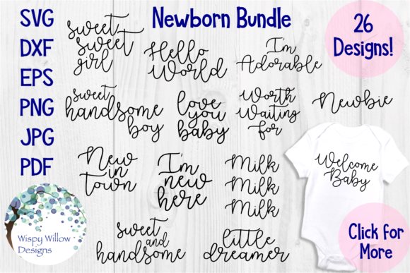 Baby Bundle Graphic Crafts By WispyWillowDesigns
