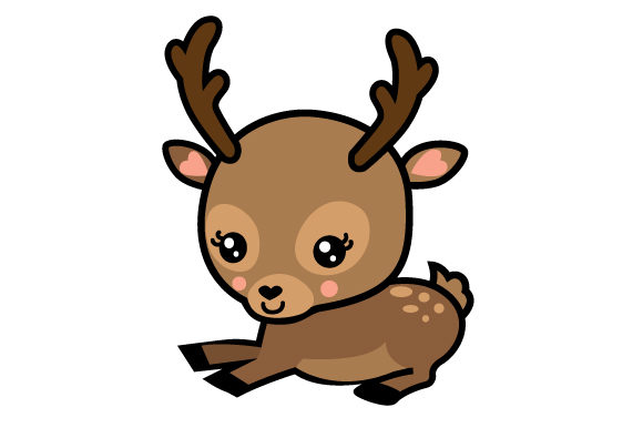 Download Free Baby Deer Cartoon Svg Cut File By Creative Fabrica Crafts for Cricut Explore, Silhouette and other cutting machines.