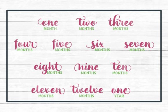 Download Free Baby S First Year Monthly Milestones Graphic By SVG Cut Files
