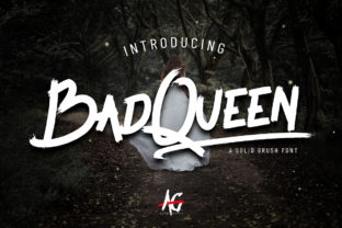Print on Demand: Bad Queen Display Font By alphigraphy