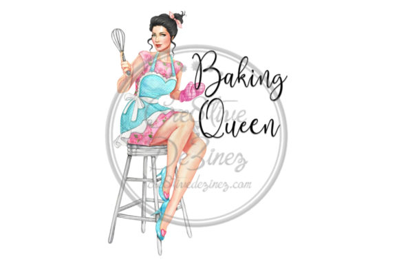 Print on Demand: Baking Queen Graphic Illustrations By Cre8tiveDeZinez