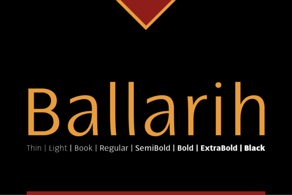 Print on Demand: Ballarih Family Sans Serif Font By Cort9