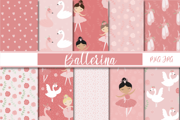 Print on Demand: Ballerina Papers Graphic Patterns By poppymoondesign