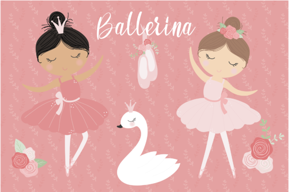 Print on Demand: Ballerina Graphic Illustrations By poppymoondesign