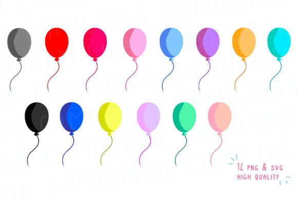 Download Free Balloon Birthday Graphic By Inkclouddesign Creative Fabrica for Cricut Explore, Silhouette and other cutting machines.