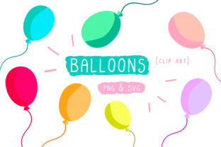 Balloon Birthday Cutting File Graphic By Inkclouddesign