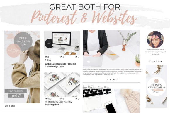 Banners for Blog or Pinterest Graphic Web Elements By switzershop - Image 3