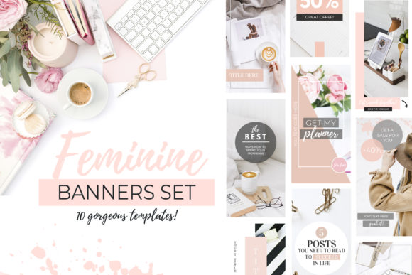 Banners for Blog or Pinterest Graphic Web Elements By switzershop
