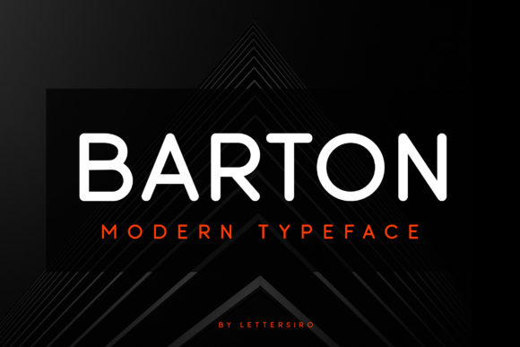 Print on Demand: Barton Sans Serif Font By Lettersiro Co.