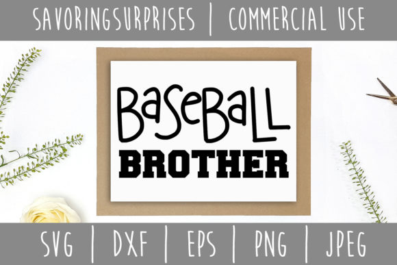 Download Free Baseball Brother Svg Graphic By Savoringsurprises Creative Fabrica for Cricut Explore, Silhouette and other cutting machines.