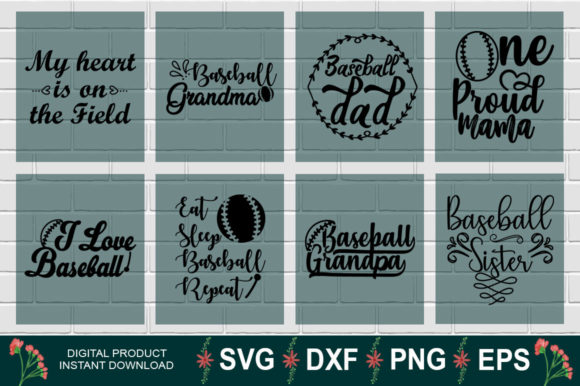 Download Free Baseball Bundle Graphic By Aesthetic Studio Creative Fabrica for Cricut Explore, Silhouette and other cutting machines.