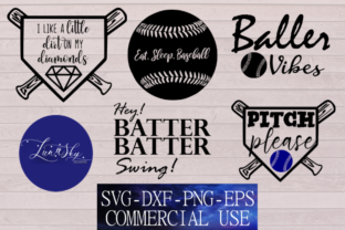 Download Free Baseball Bundle Graphic By Lunaskysvg Creative Fabrica for Cricut Explore, Silhouette and other cutting machines.