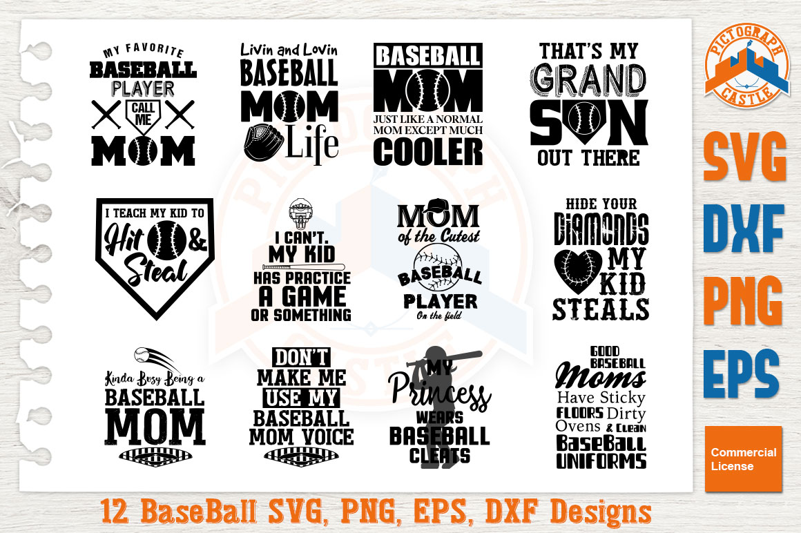 Download Free Baseball Mom Bundle Graphic By Graphicza Creative Fabrica for Cricut Explore, Silhouette and other cutting machines.