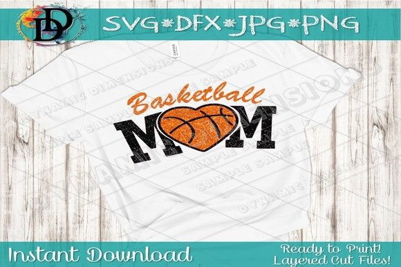 Print on Demand: Basketball Mom SVG Graphic Crafts By dynamicdimensions